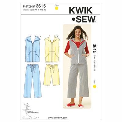 Hose | Shorts | Weste, KwikSew 3615 | XS - XL