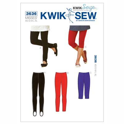 Leggings, KwikSew 3636 | XS - XL
