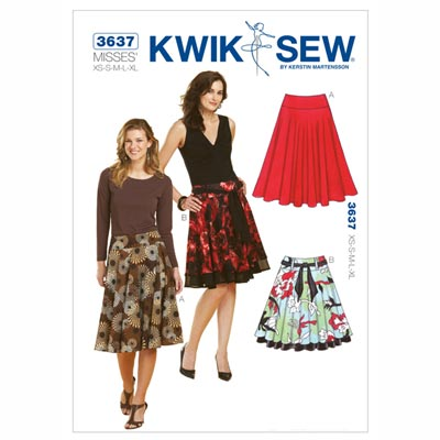 Rock, KwikSew 3637 | XS - XL