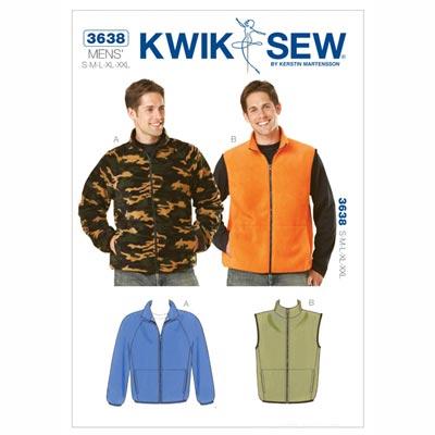 Herren- Jacke | Weste, KwikSew 3638 | S - XXL