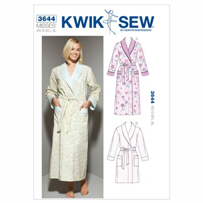 Bademantel, KwikSew 3644 | XS - XL