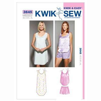 Nachtwäsche, KwikSew 3645 | XS - XL