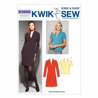 Kleid | Shirt, KwikSew 3658 | XS - XL