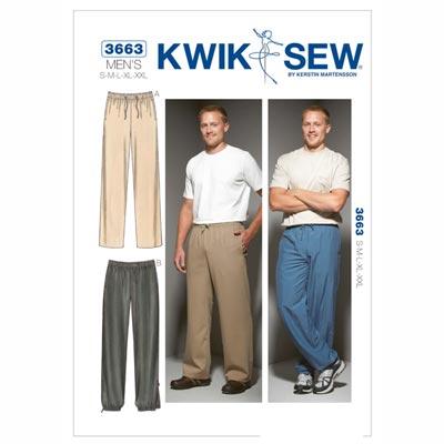 Herrenhose | Jogginghose, KwikSew 3663 | S - XXL