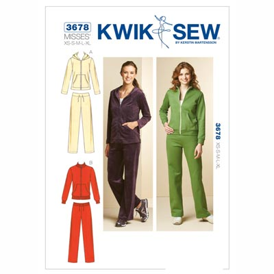 Sport-Jacke | Hose, KwikSew 3678 | XS - XL