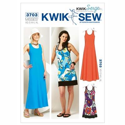 Kleid, KwikSew 3703 | XS - XL