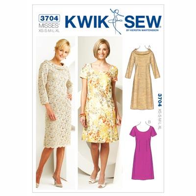 Kleid, KwikSew 3704 | XS - XL