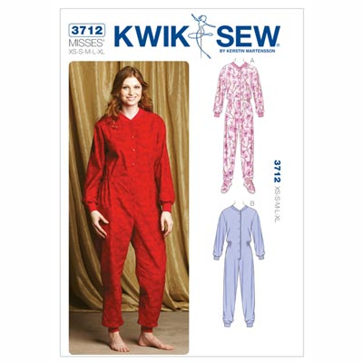 Schlaf-Overall, KwikSew 3712 | XS - XL