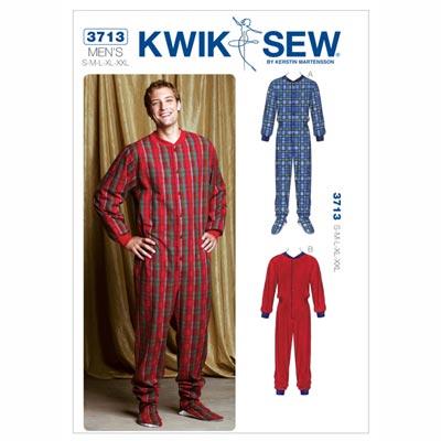 Schlaf-Overall für Herren, KwikSew 3713 | S - XXL