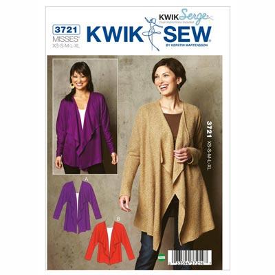 Cardigan-Jacke, KwikSew 3721 | XS - XL