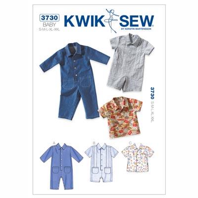 Baby Overall | Hemd, KwikSew 3730 | 62 - 86