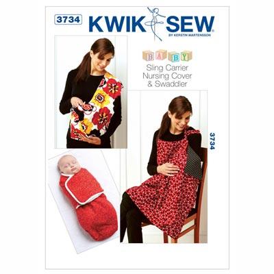 Babyzubehör: Trageschlaufe / Stillumhang / Pucktuch, KwikSew 3734
