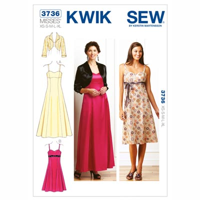Abendkleid | Bolero, KwikSew 3736 | XS–XL