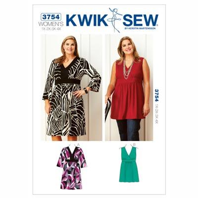 Kleid | Tunika, KwikSew 3754 | XL - 4XL