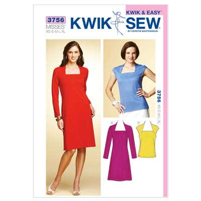 Kleid | Top, KwikSew 3756 | XS - XL