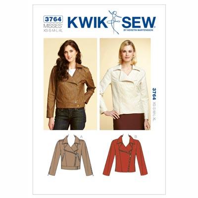Bikerjacke, KwikSew 3764 | XS - XL
