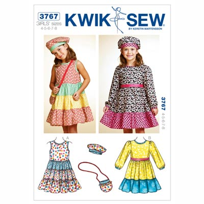 Kinderkleid | Tasche | Mütze, KwikSew 3767 | 104 - 128