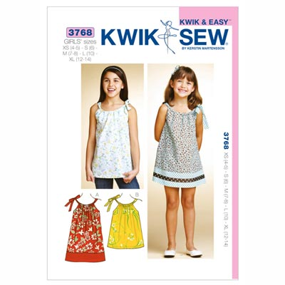 Kinderkleid | Tunika, KwikSew 3768 | 104 - 152