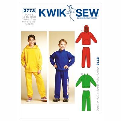 Sweatshirt | Jogginghose, KwikSew 3773 | 104 - 152
