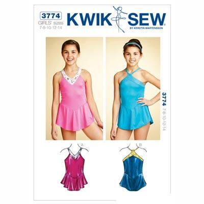 Turnanzug für Kinder, KwikSew 3774 | 128 - 152