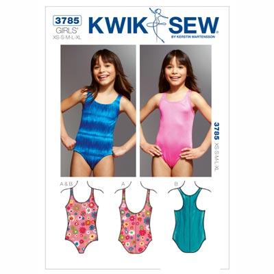 Badeanzug für Mädchen, KwikSew 3785 | 104 - 152