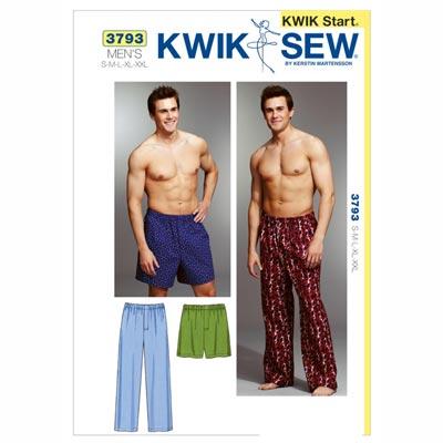 Schlafhose | Shorts für Herren, KwikSew 3793 | S - XL