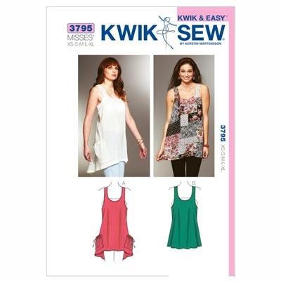 Tunika, KwikSew 3795 | XS - XL