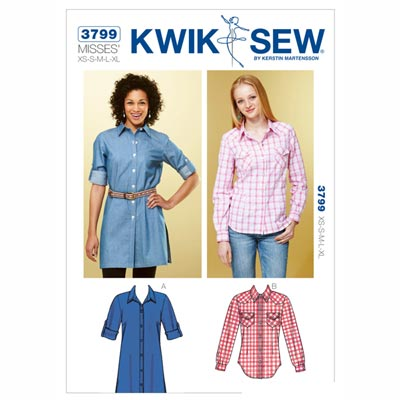 Bluse, KwikSew 3799