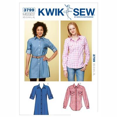 Bluse, KwikSew 3799 | XS - XL