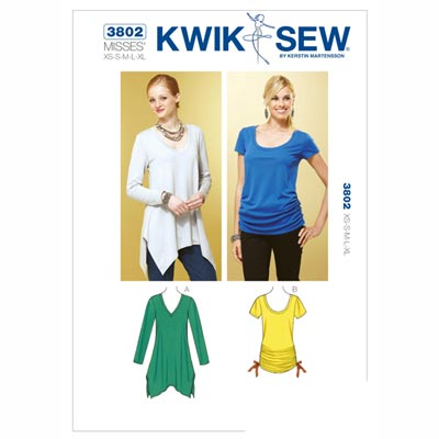 Top | Shirt, KwikSew 3802 | XS - XL