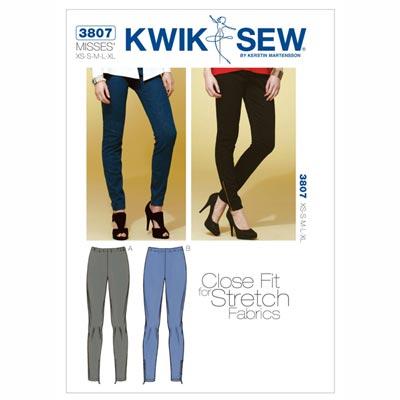 Hose | Stretchhose, KwikSew 3807 | XS - XL