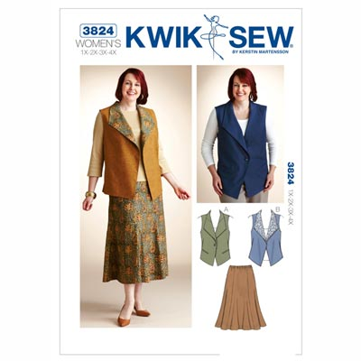 Plus Size – Weste / Rock, KwikSew 3824