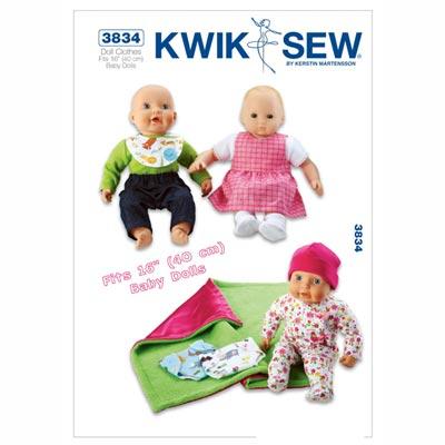 Puppenkleider, KwikSew 3834