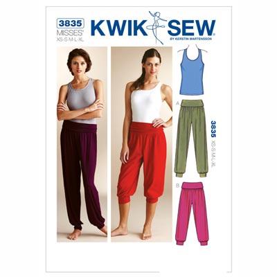 Sport-Top | Hose, KwikSew 3835 | XS - XL