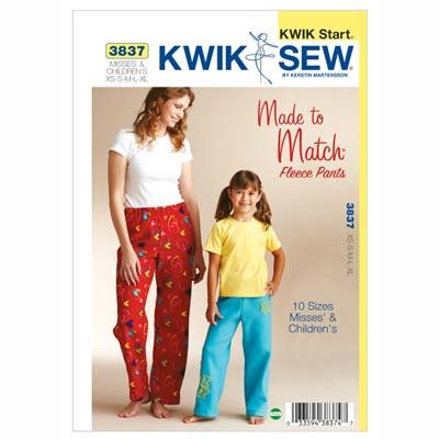 Fleece-Hosen für Damen und Mädchen, KwikSew 3837 | 104 - 152