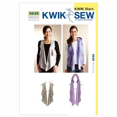 Kwik Start Weste, KwikSew 3838 | XS - XL
