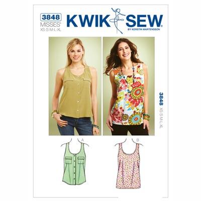 Tank Tops, KwikSew 3848 | XS - XL