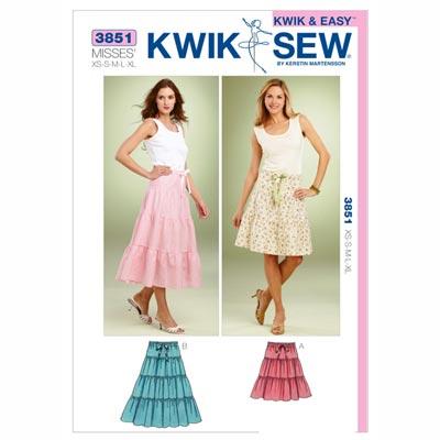 Röcke, KwikSew 3851 | XS - XL