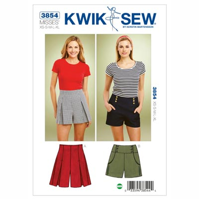 Shorts, KwikSew 3854 | XS - XL