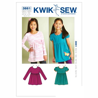 Butterfly Tops, KwikSew 3861 | 104 - 152