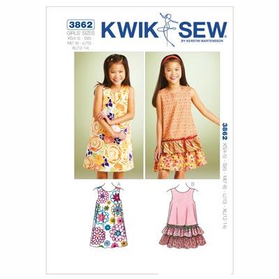 Kleidchen, KwikSew 3862 | 104 - 152