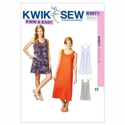 Kleider, KwikSew 3871 | XS - XL