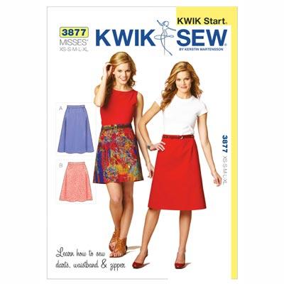 Röcke, KwikSew 3877 | XS - XL