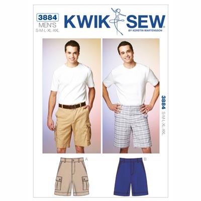 Herren-Shorts, KwikSew 3884 | S - XXL