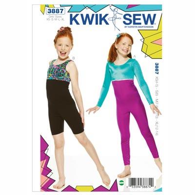 Gymnastikanzug für Mädchen, KwikSew 3887 | 104 - 152