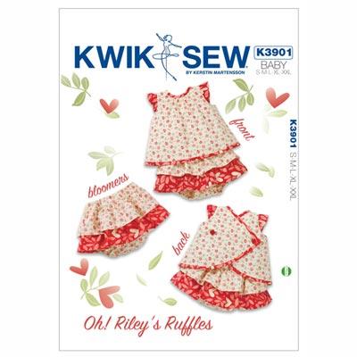 Babykleid | Pumphöschen, KwikSew 3776 | 62 - 86