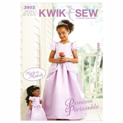 Prinzessinnenkleid, KwikSew 3903 | 104 - 152
