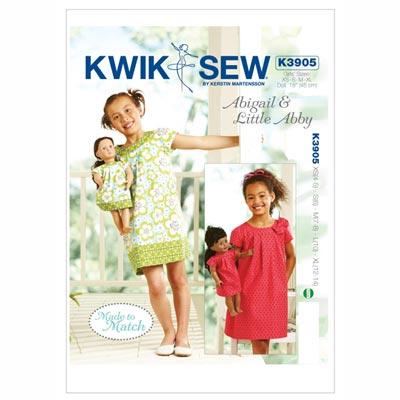 Mädchen- und Puppenkleid, KwikSew 3905 | 104 - 152
