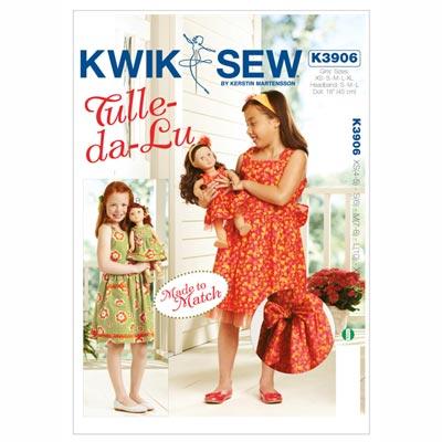 Mädchen- und Puppenkleid, KwikSew 3906 | 104 - 152