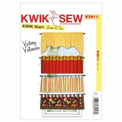 Kurzer Vorhang / Lambrequin, KwikSew 3911